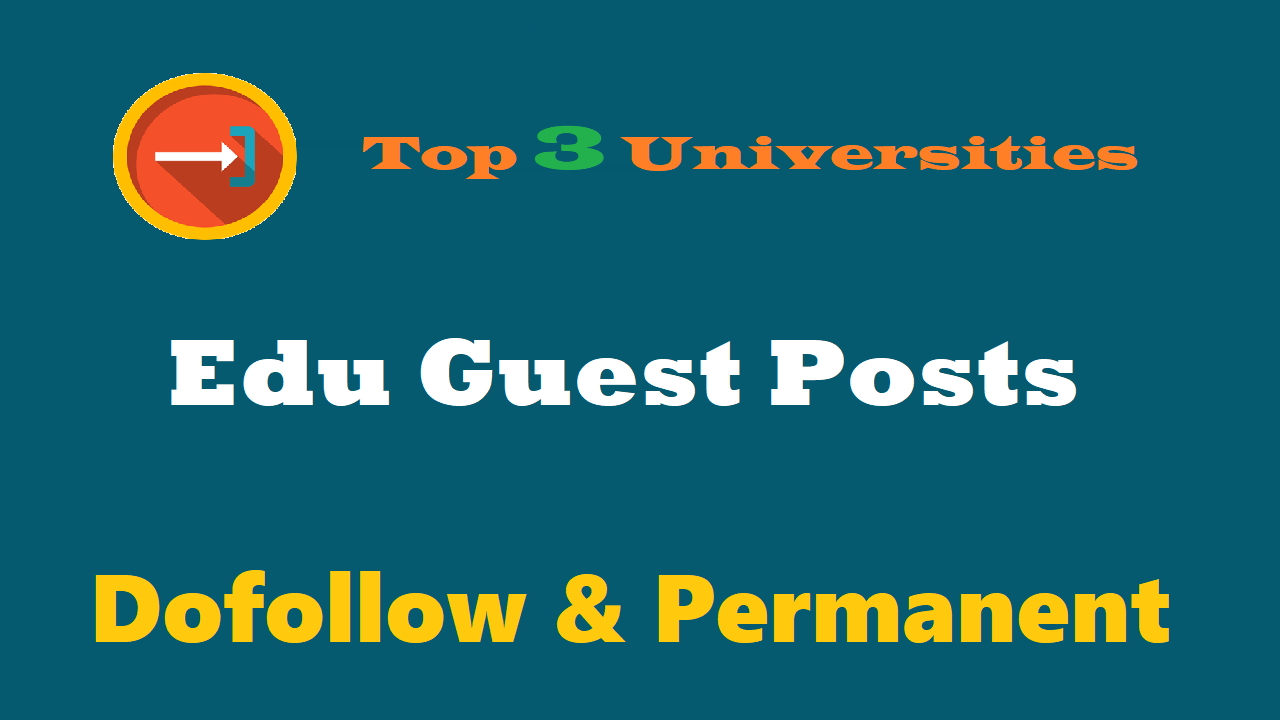 Write + Guest Post On 3 Reputed University