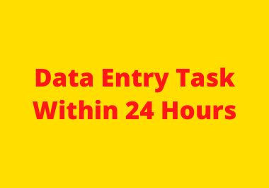 Data Entry work or Excel Data entry