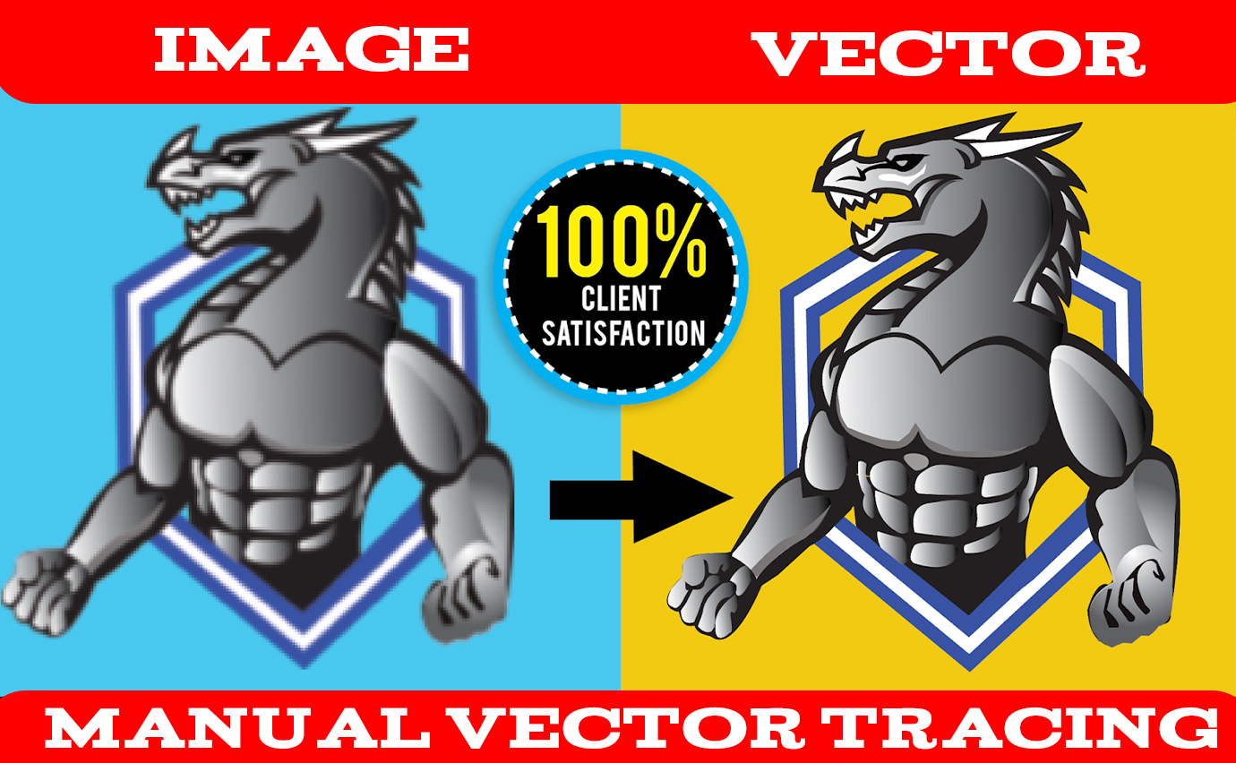 i will do vector tracing , vectorize, recreate image, image to vector