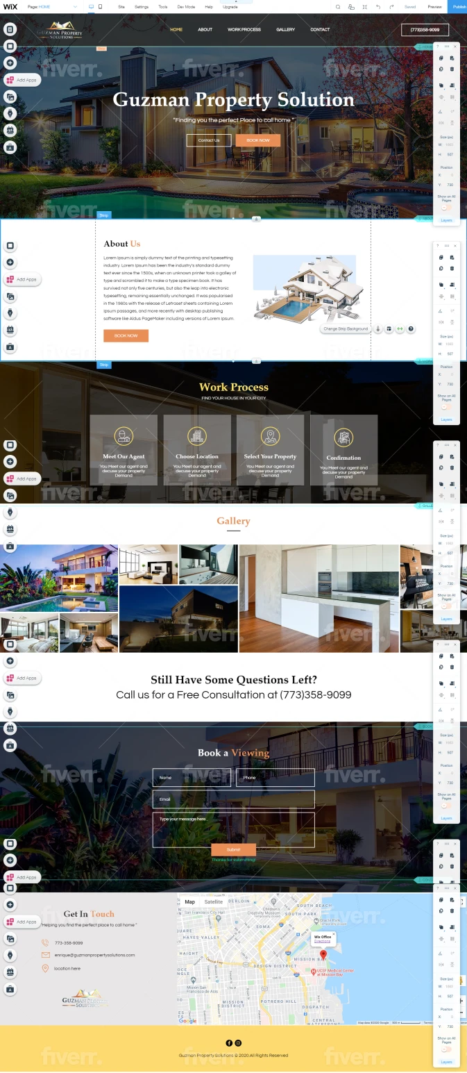 Will design and redesign professional business wix website