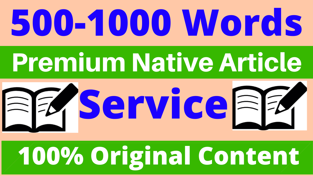 500 Word Premium Native Article Writing, Blog Writing,  Health,  Business,  SEO Content Writing Service