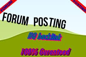 Provide 1000 forum Posting HQ backlinks