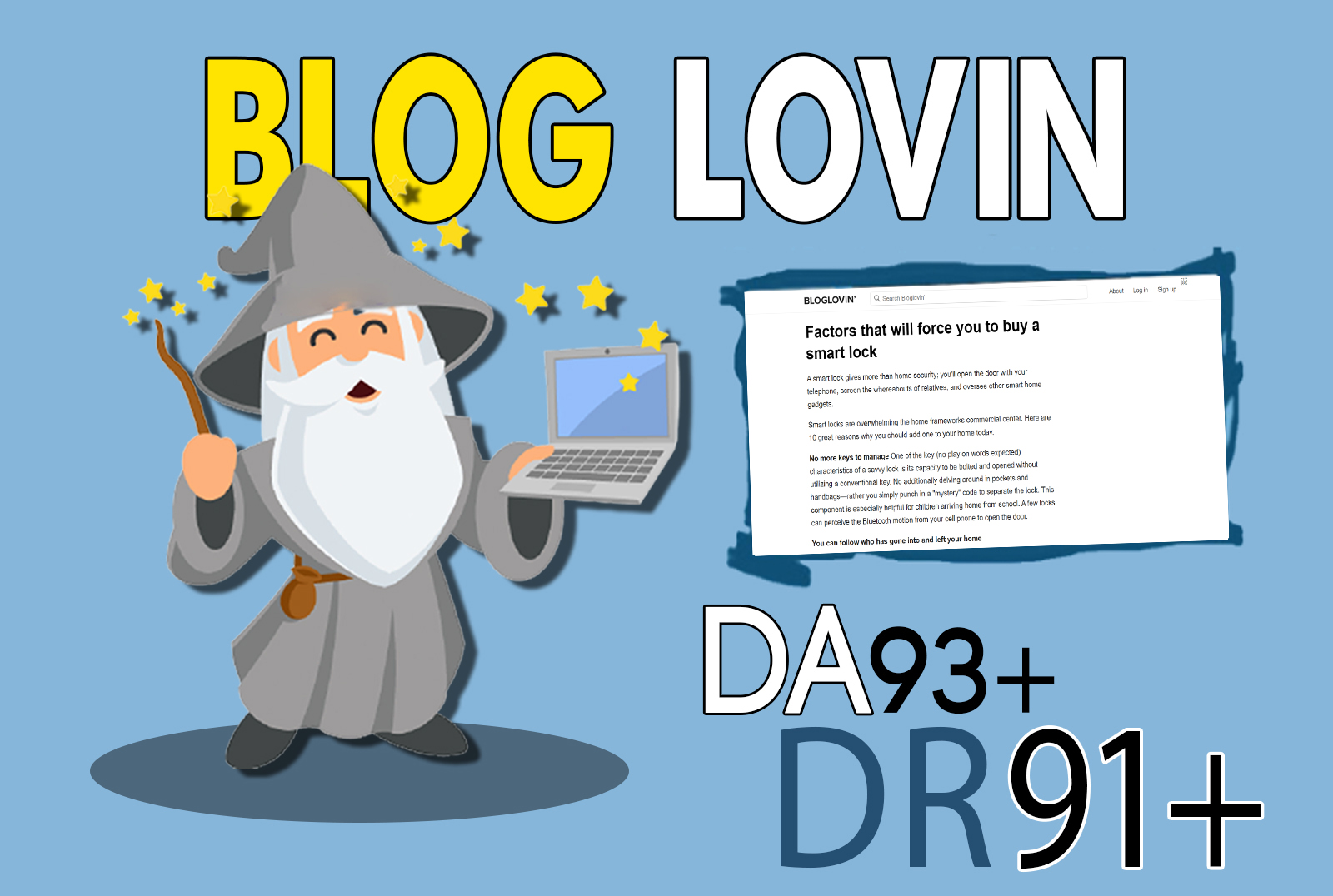 publish your article on bloglovin. com da 93 dofollow backlink