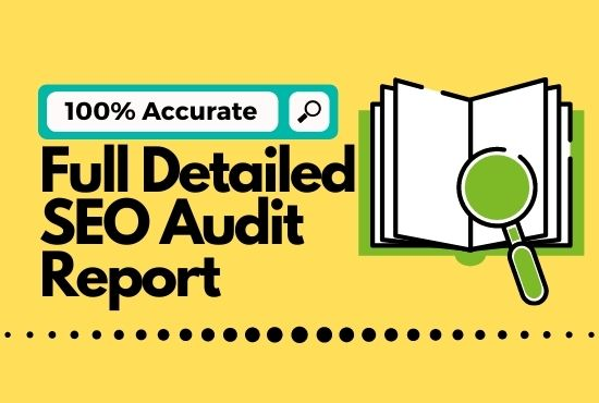 Full detailed SEO audit report with Robot. txt and more