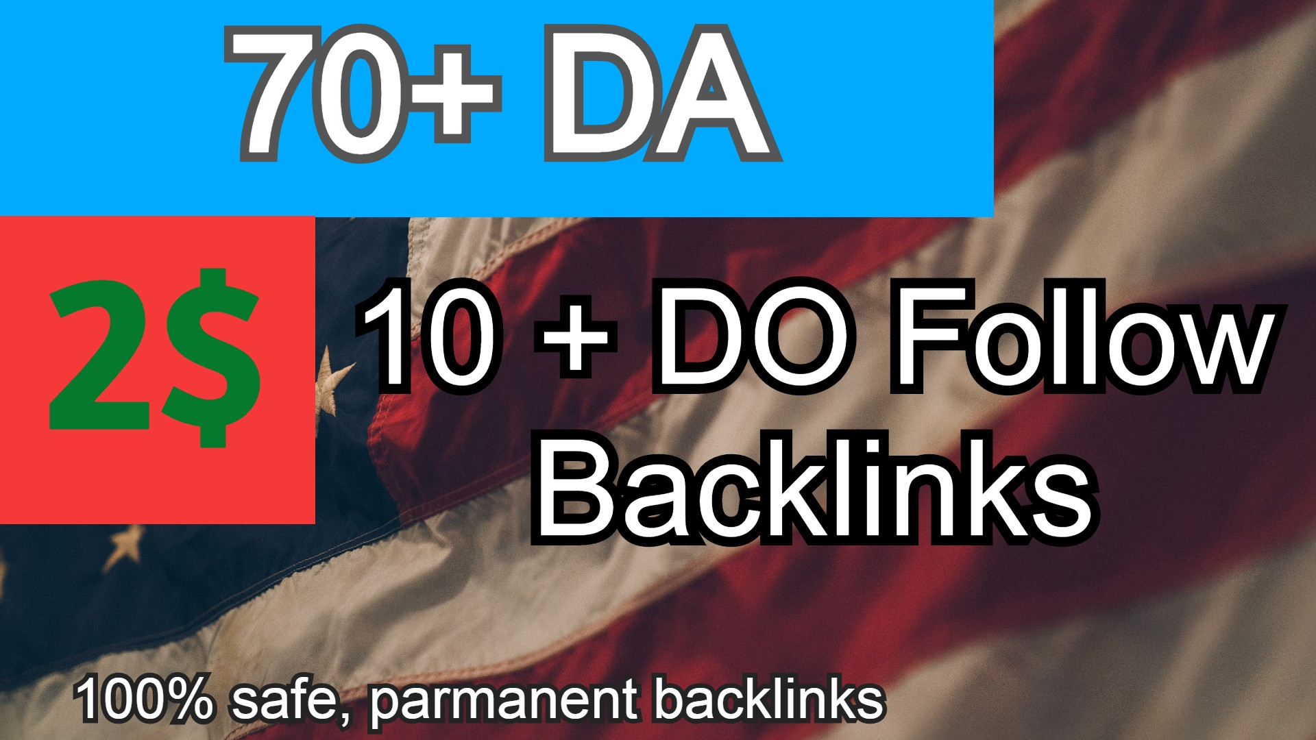 10+ BACKLINKS 70+ DA 35+ PA Manually created Backlinks. GET IT NOW