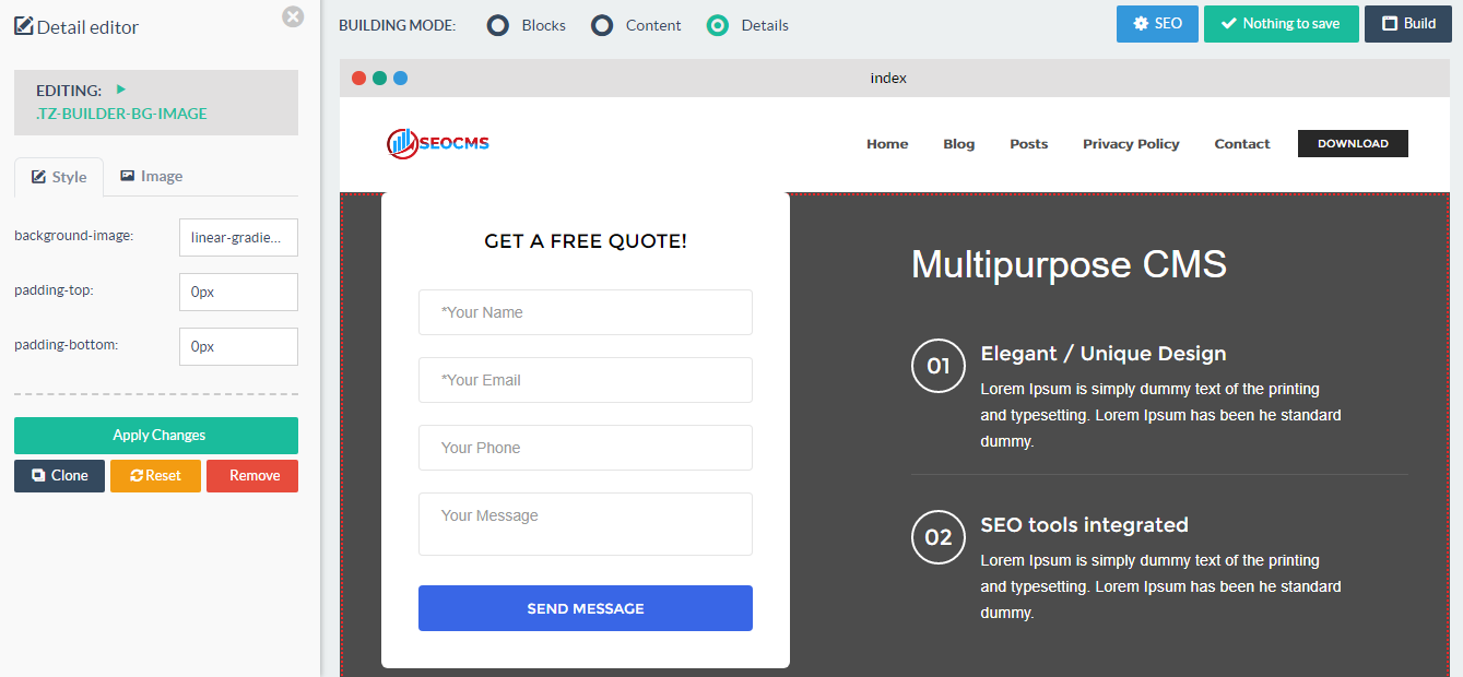 SEOCMS - Multipurpose CMS with Integrated SEO Tools & Blog!