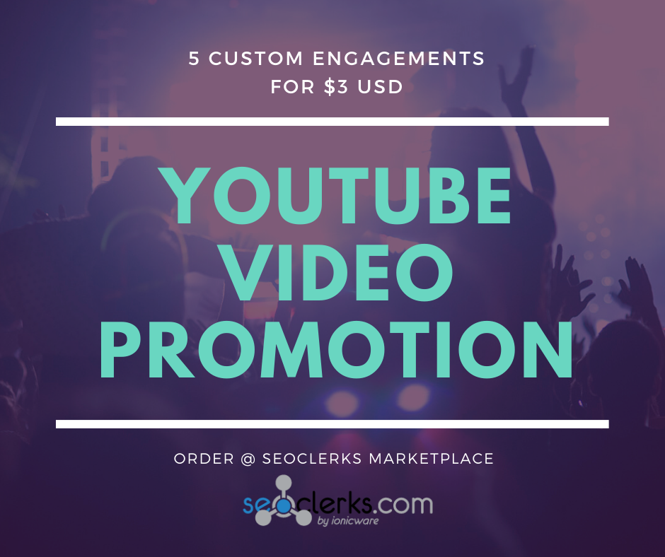 organically promote your video to add 5 engagements