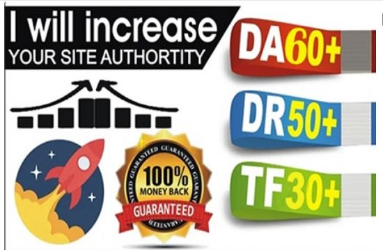 I will increase DA30+ DR50 and TF30+ domain site backlink for 7