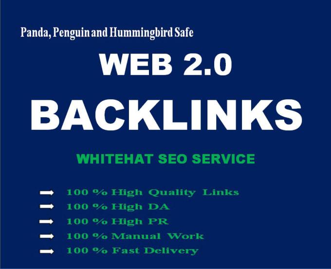 I will manually create over 120 high pr, da web 2, 0 backlinks