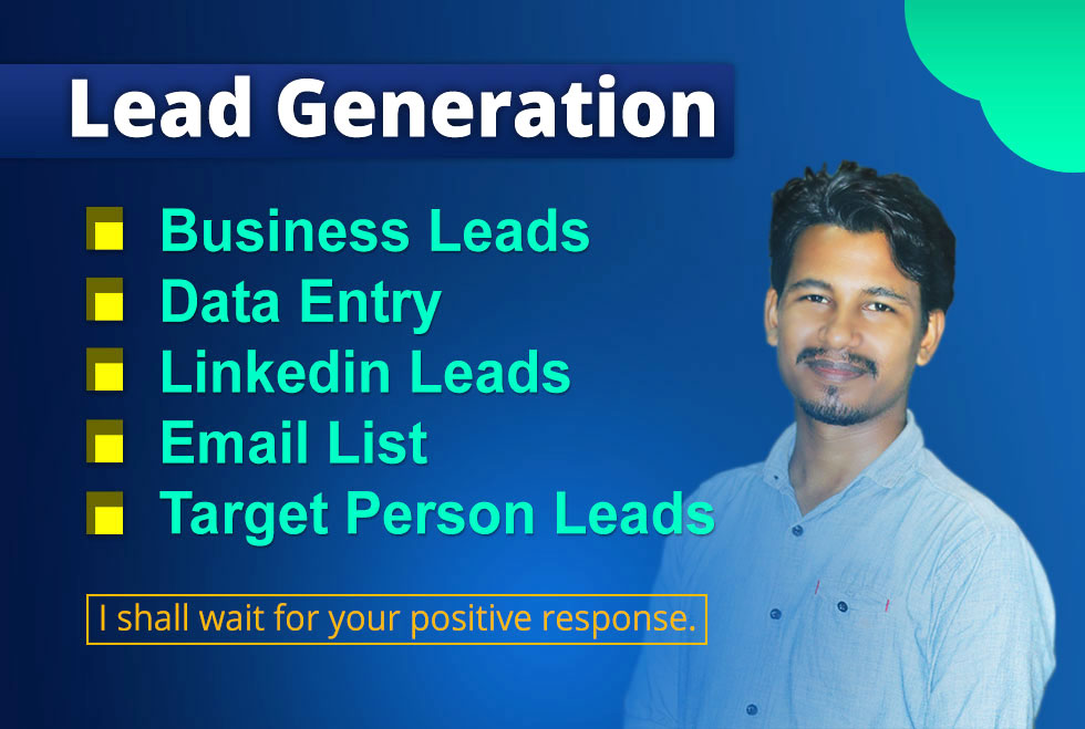 I will do targeted lead generation, linkedin leads and data entry