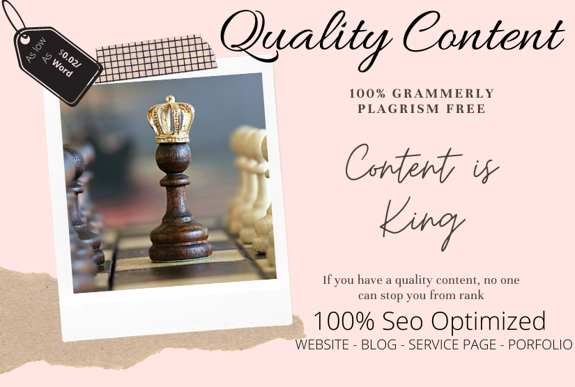 I will write high quality seo optimized content