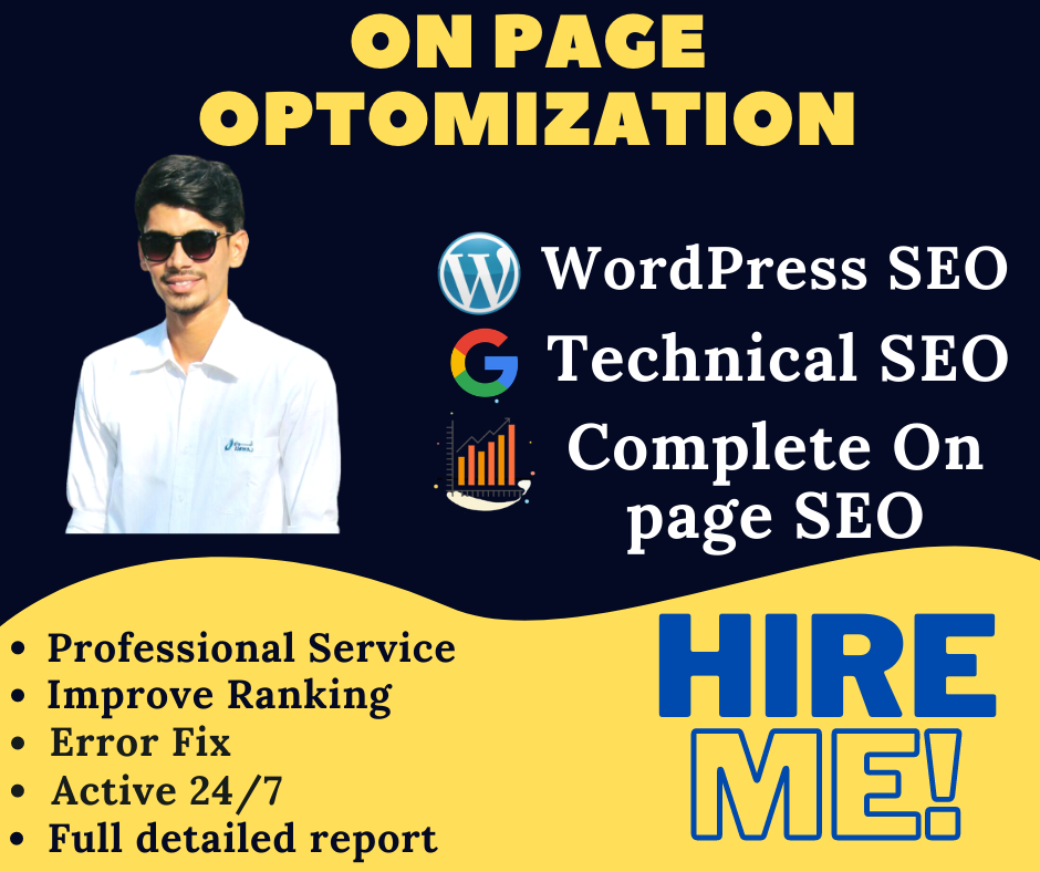 I will do complete on page SEO and technical on page optimization of your WordPress site with yoast