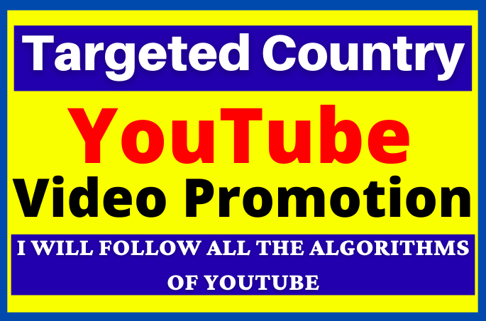 I Will do Targeted All Country YouTube Video Promotion and Marketing