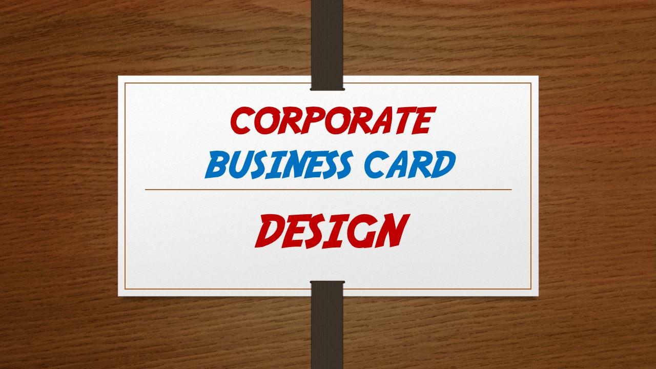 Corporate Business Card design