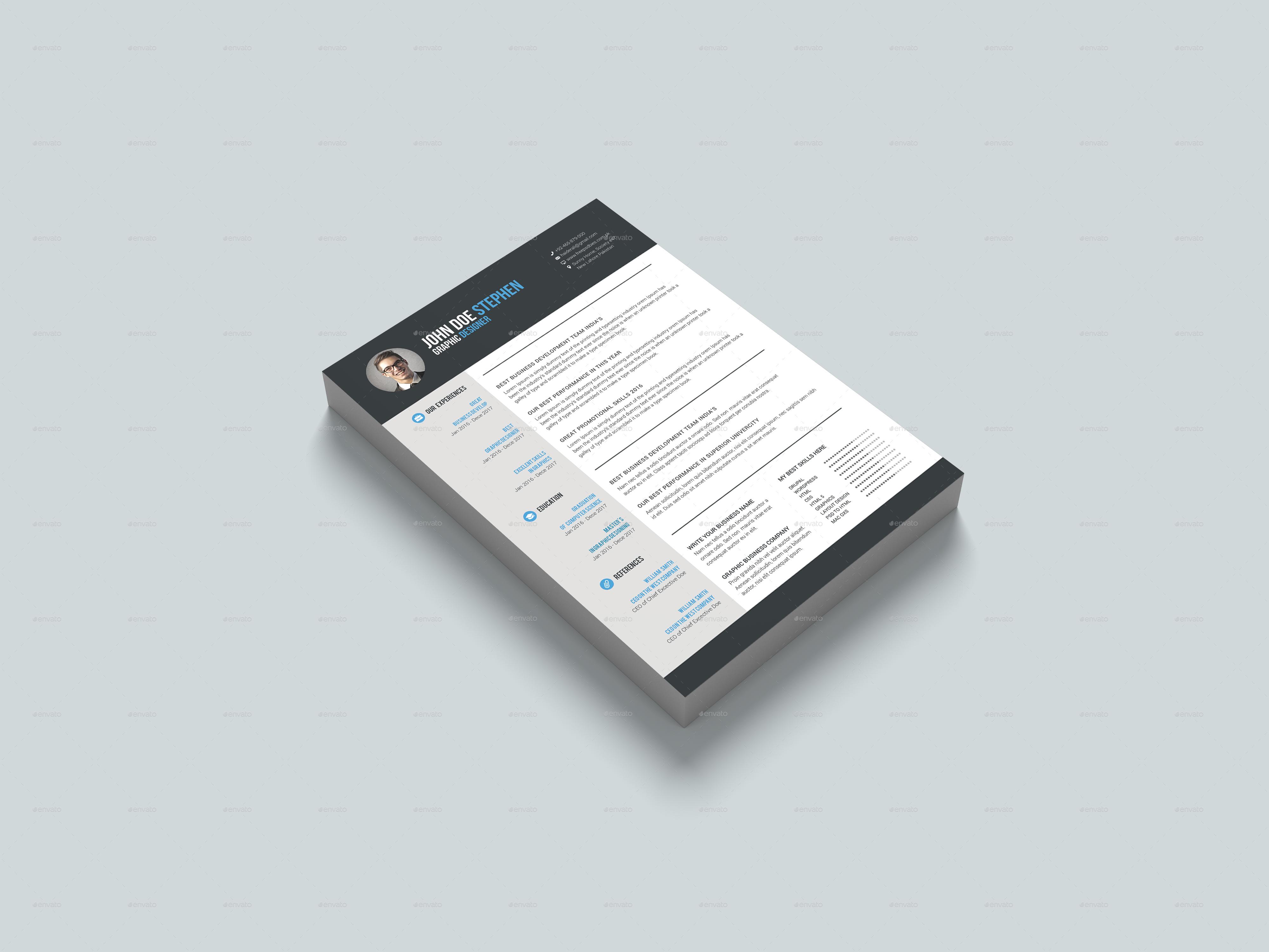 I will do modern, custom resume design