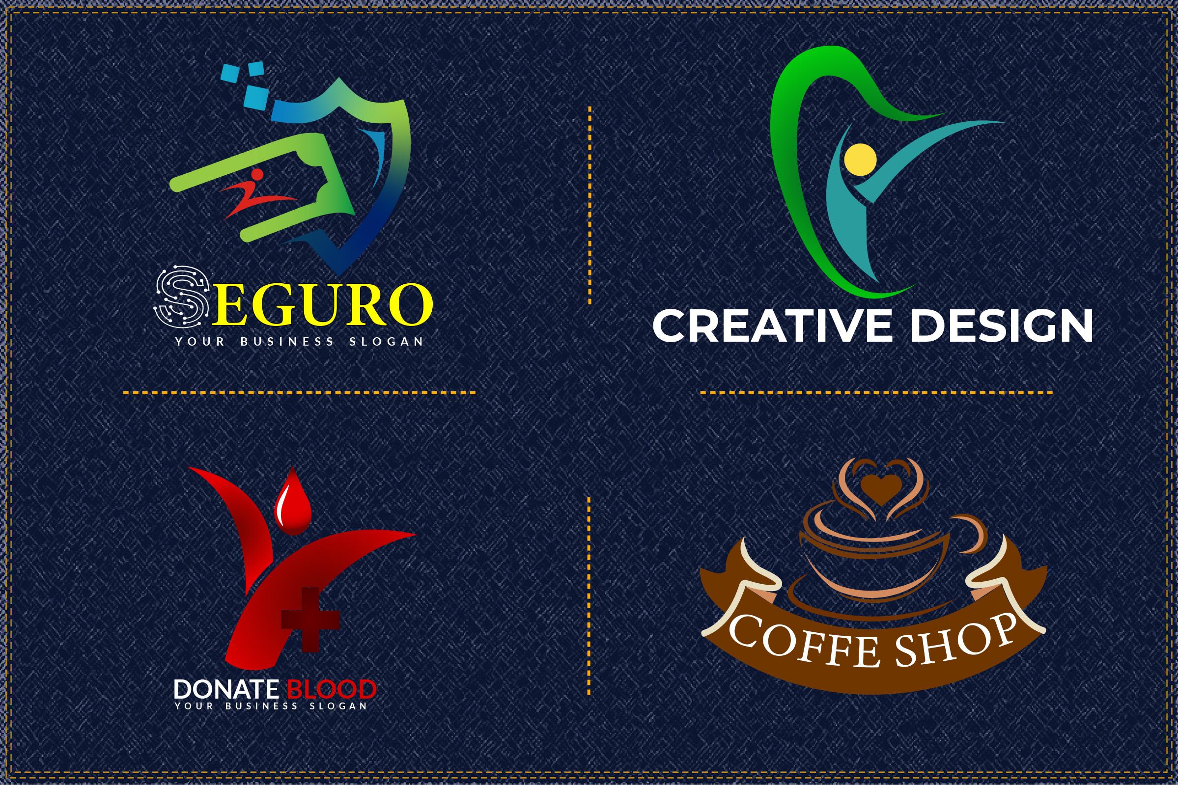 I will do creative flat minimalist modern business logo design.