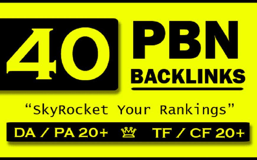 do 40 PBN backlinks on high PA DA sites