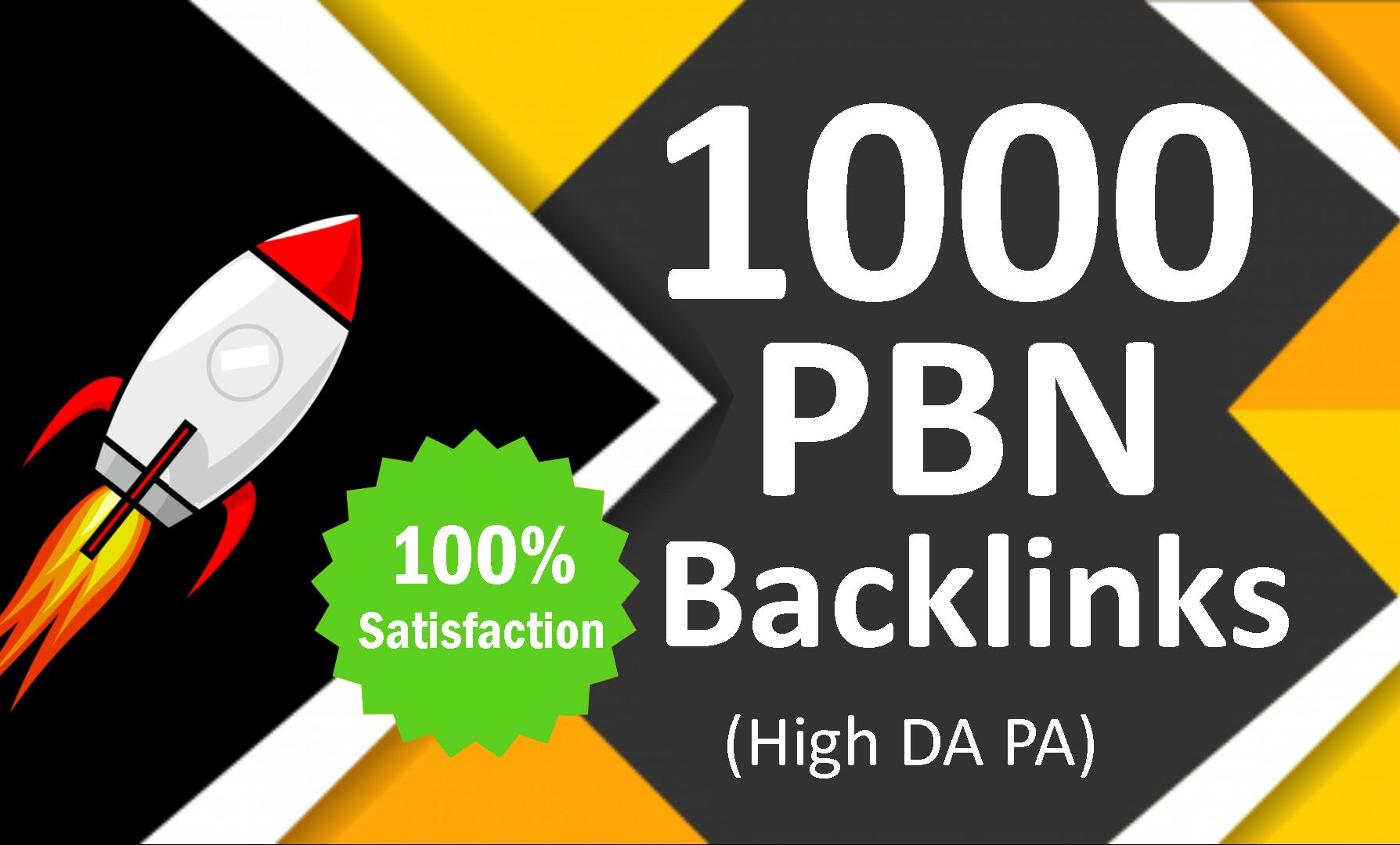 1000 PBN Backlinks from high DA PA