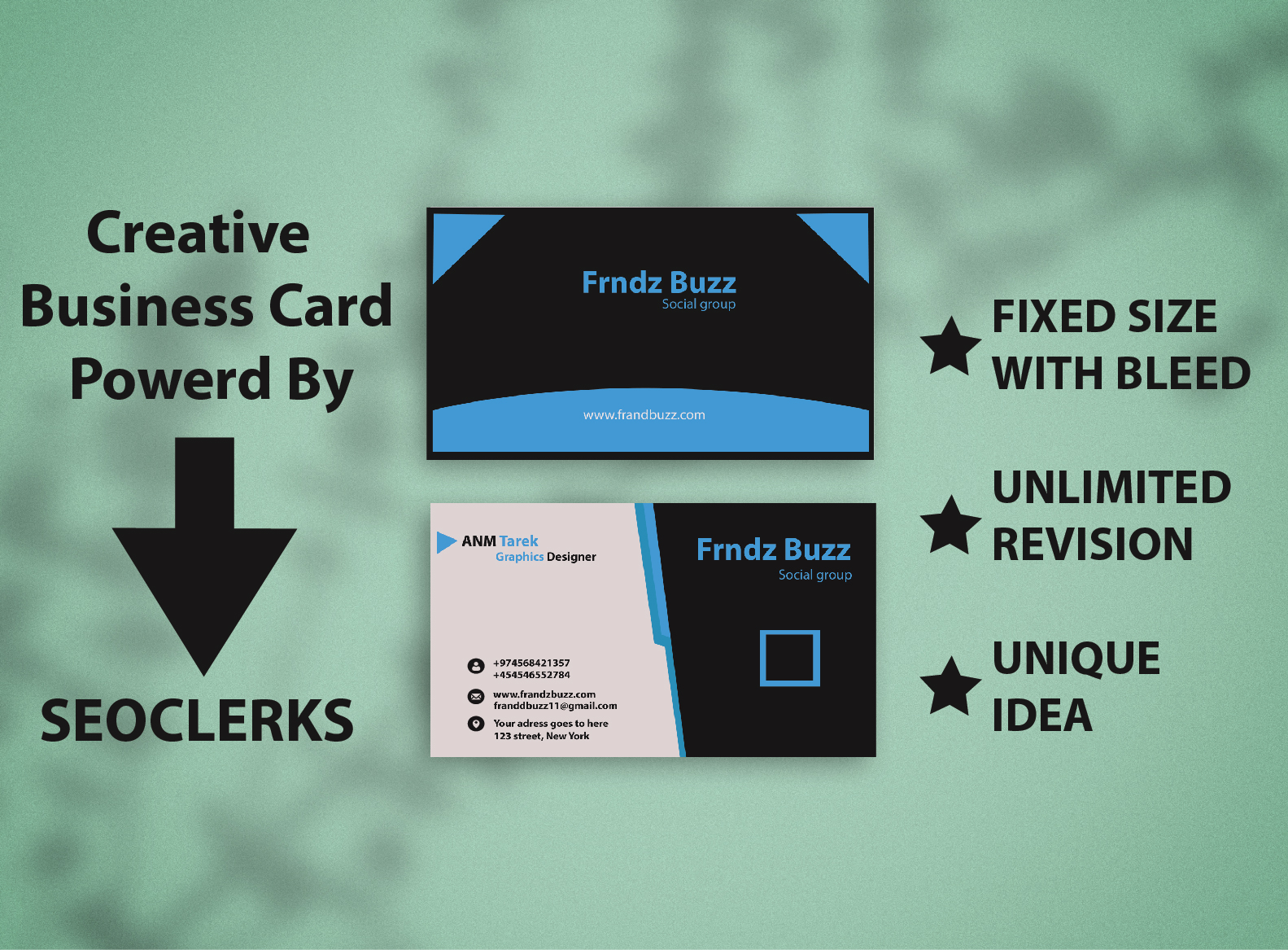 I will create a Exclusive Business Card.