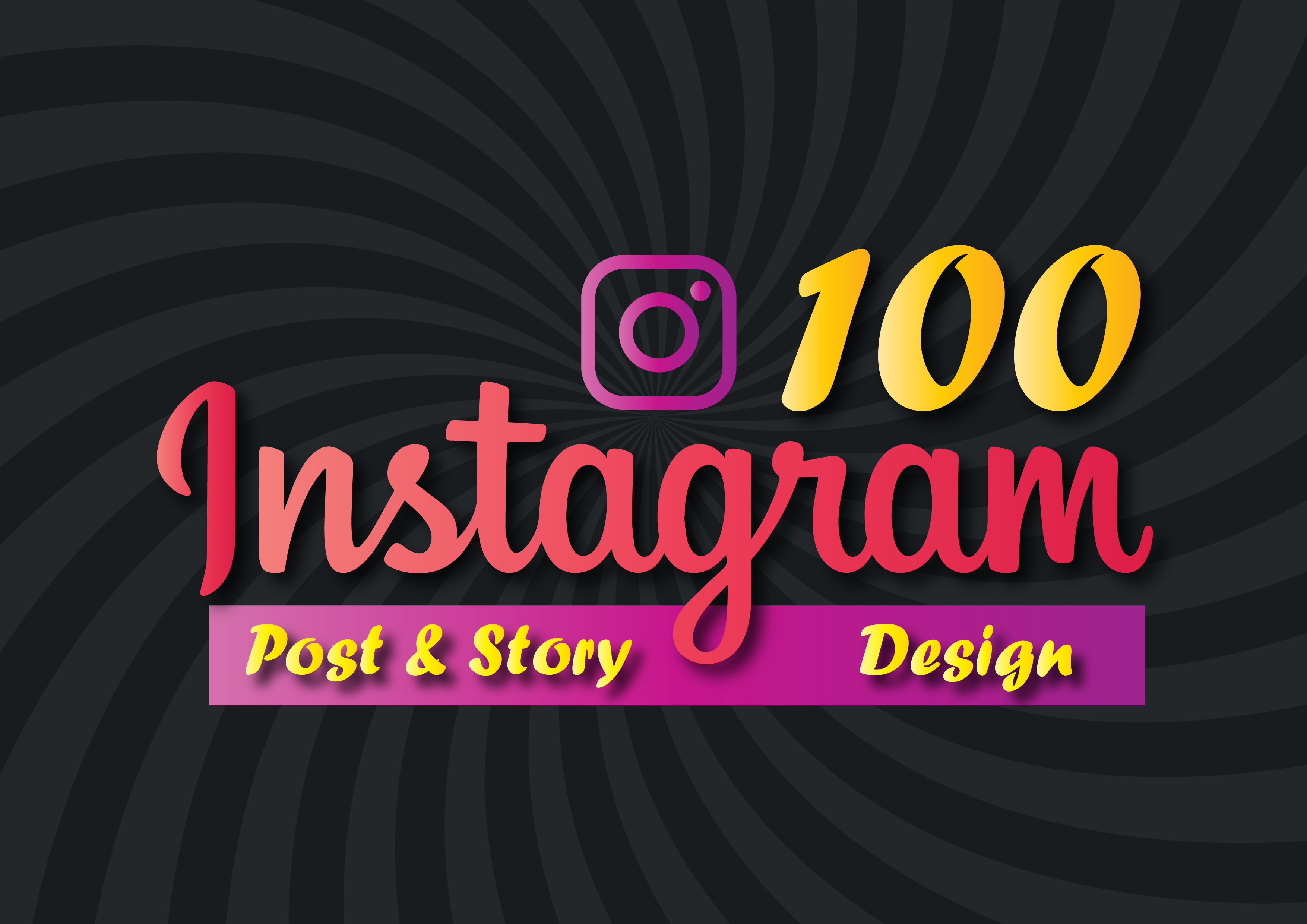 create 100+ IG Social post and Story design