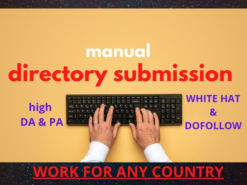 I will do 100 directory submission for any country