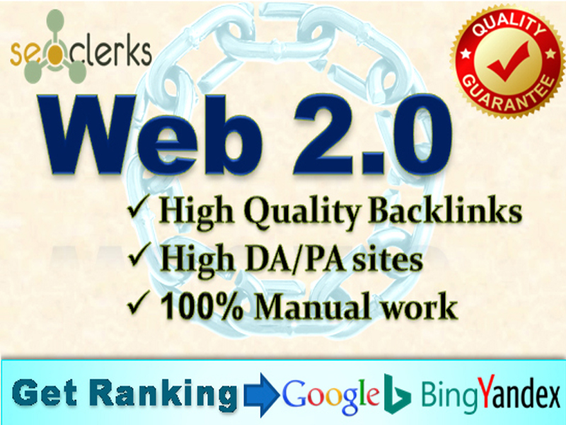 I will create 50 web 2.0 backlinks manually