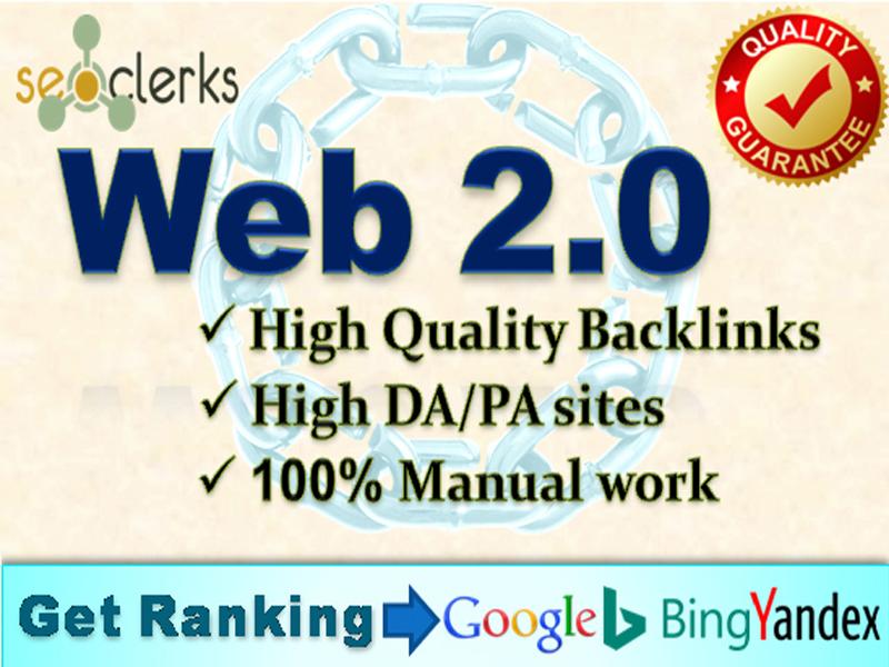 I will create 50 web 2.0 backlinks manually