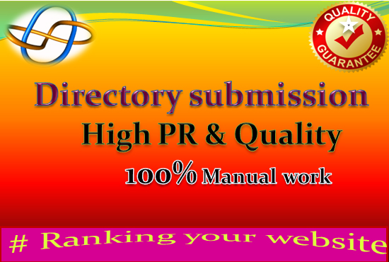 I will do 100 Manual directory submission service high quality.