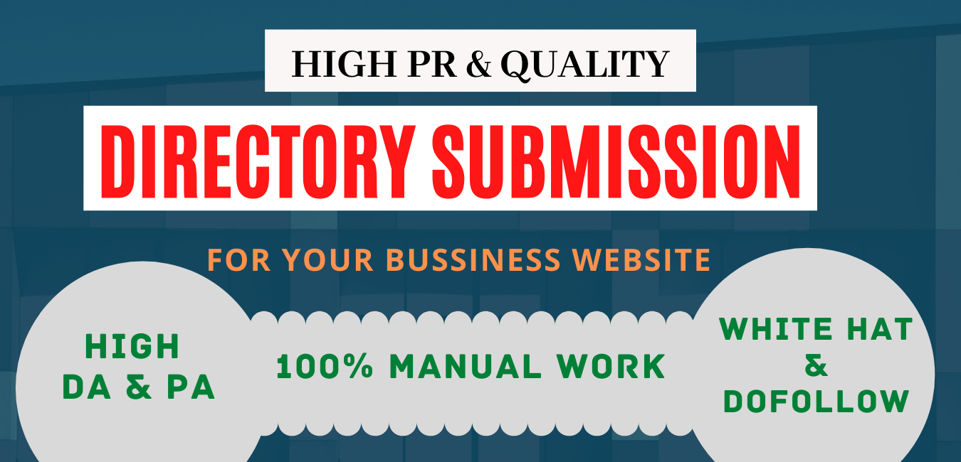 200 high authority web directory submission manually