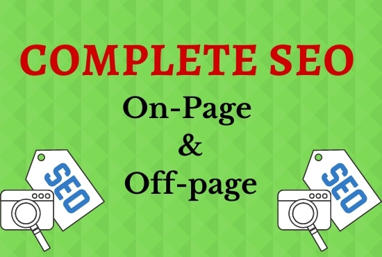 I will do complete SEO of your site to rank 1st page on Google