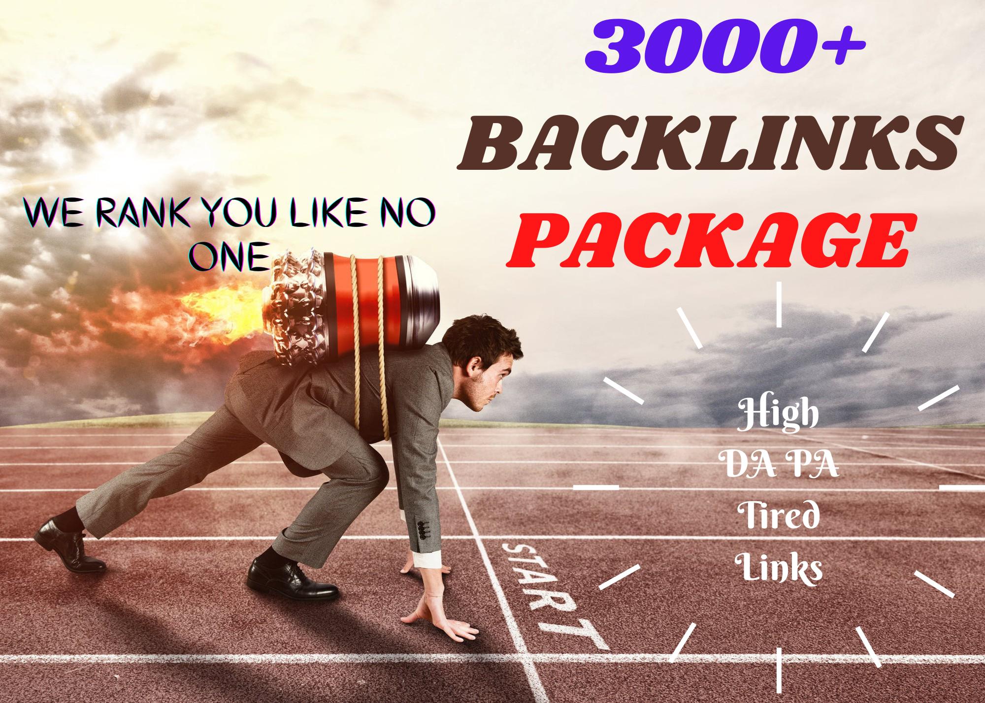 3000 High DA PA Tired LInk Backlinks to Skyrocket Your Ranking On Google