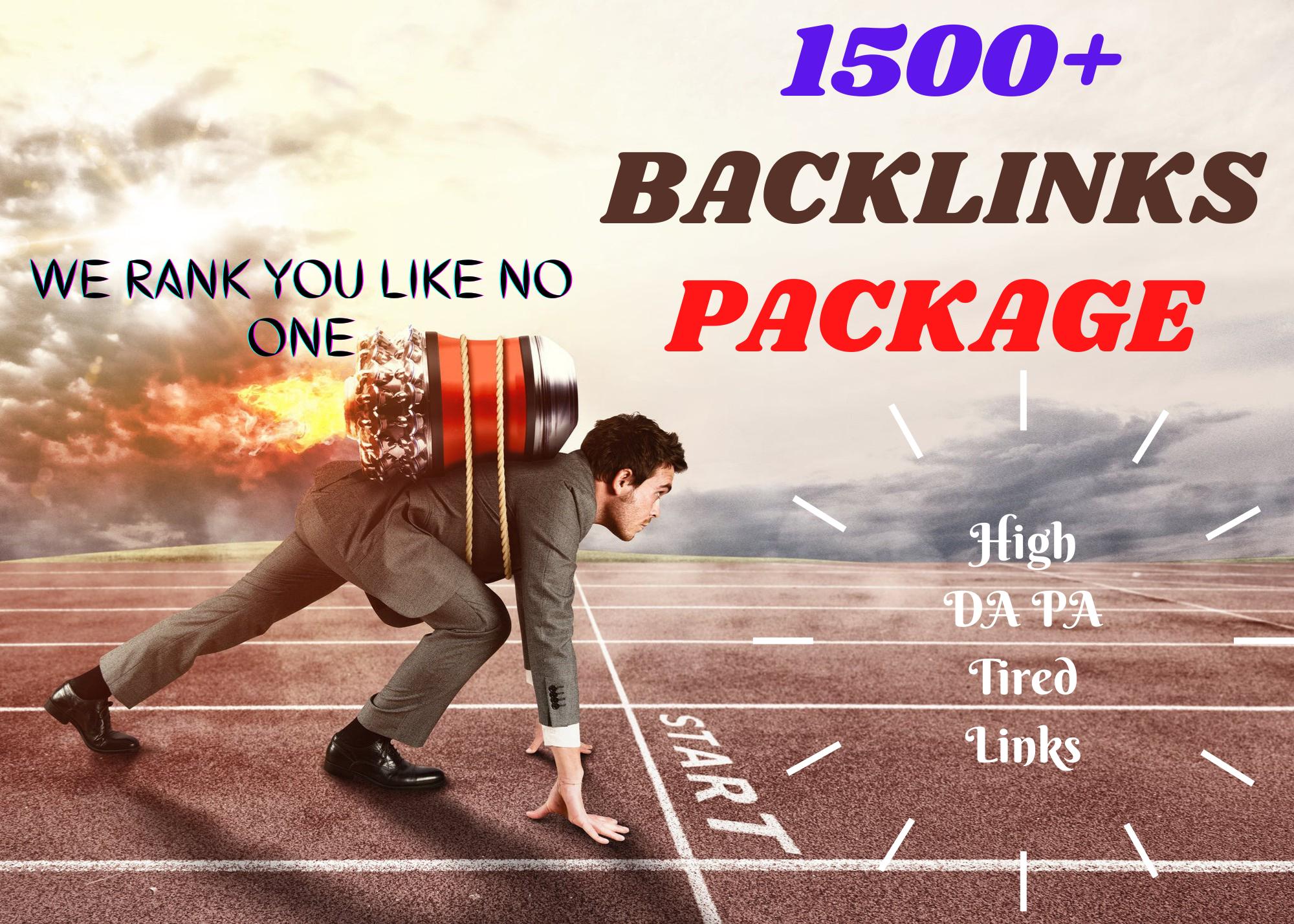 1500 High DA PA Tired LInk Backlinks to Skyrocket Your Ranking On Google