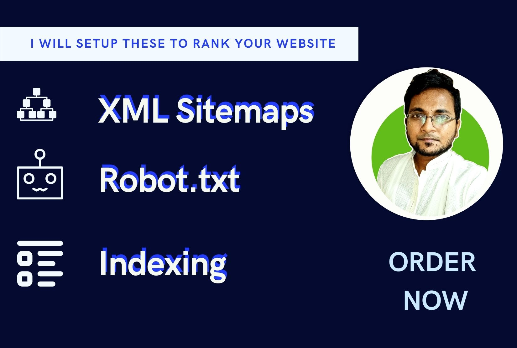I will setup yoast seo, XML sitemaps, robot txt and also Index your site