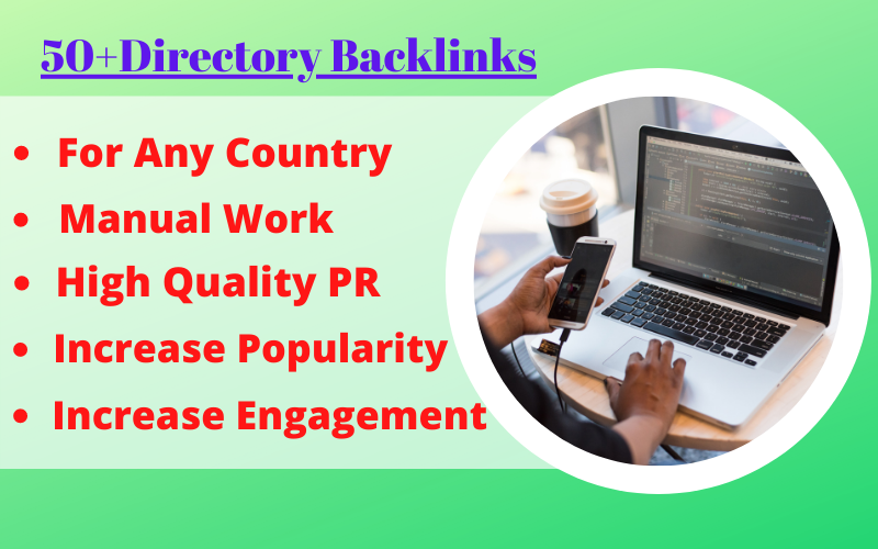 Manually Create 50+ Directory Backlinks For High Quality DA PA and DR To Increase Google Ranking