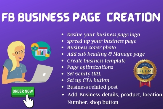 I will create your Facebook Business page for your business