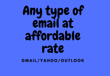 We will provide you emails at affordable rate