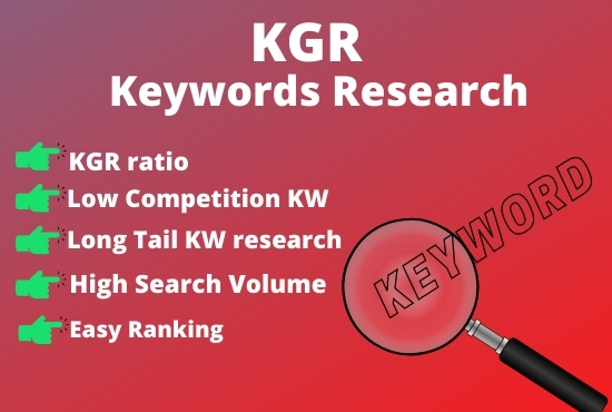 I will research 10 the best SEO KGR and keywords for your websites, content.
