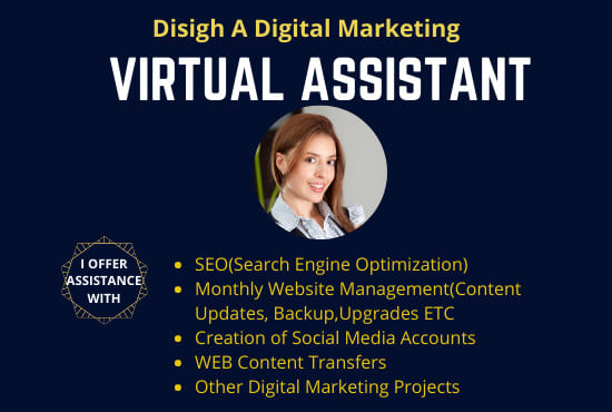 I will be your virtual assistant for 5 hours Per Day for your Wix and wordPress website,SMM,SEO.