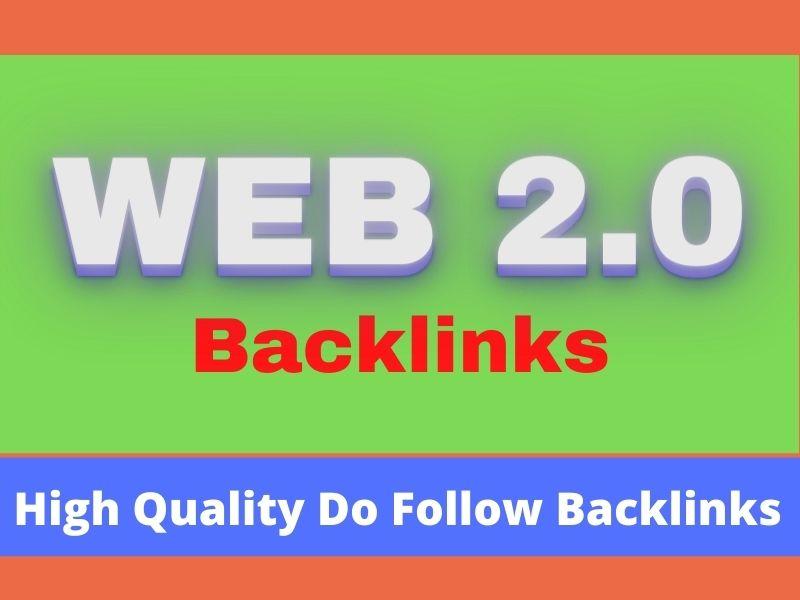 Handmade high authority 50 web 2.0 backlinks for improve ranking