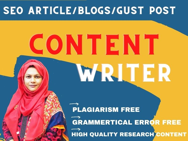 1000+ Website content writer & Product review article writer of any Niche related content writing