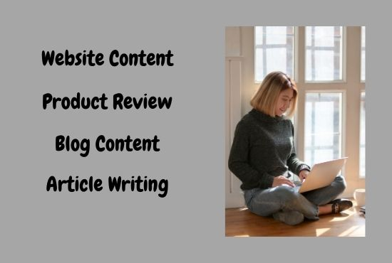 3 x 600 words quality content of article blog product review writer