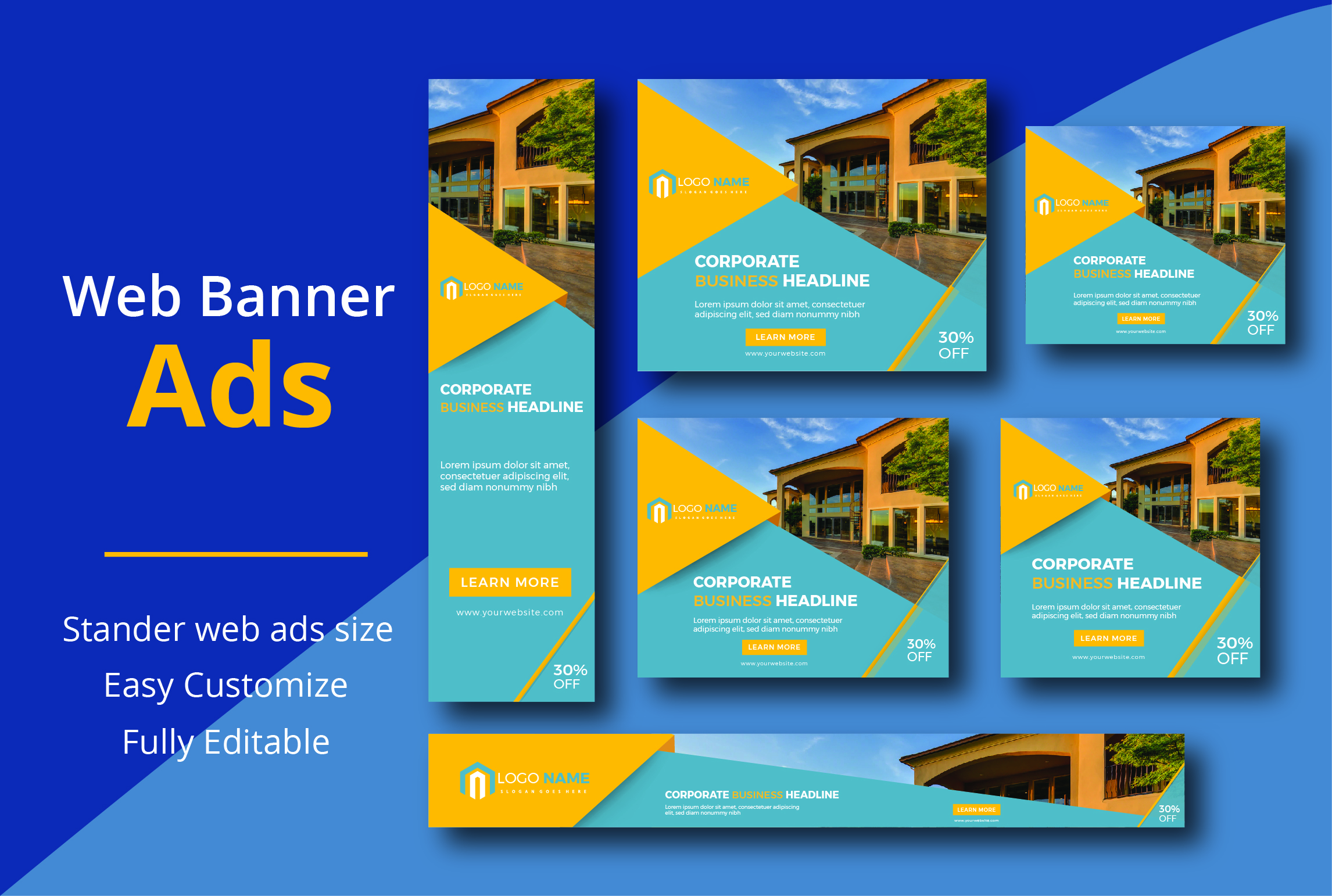 I will design eye catching web banner ads, google ads for your business