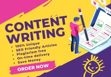1000+ Words Professional SEO Friendly Web Content Writing,  Blog Post & Article Writing on Any Topics