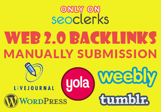 Create manually 25 High DA web 2.0 backlinks to Rank your website