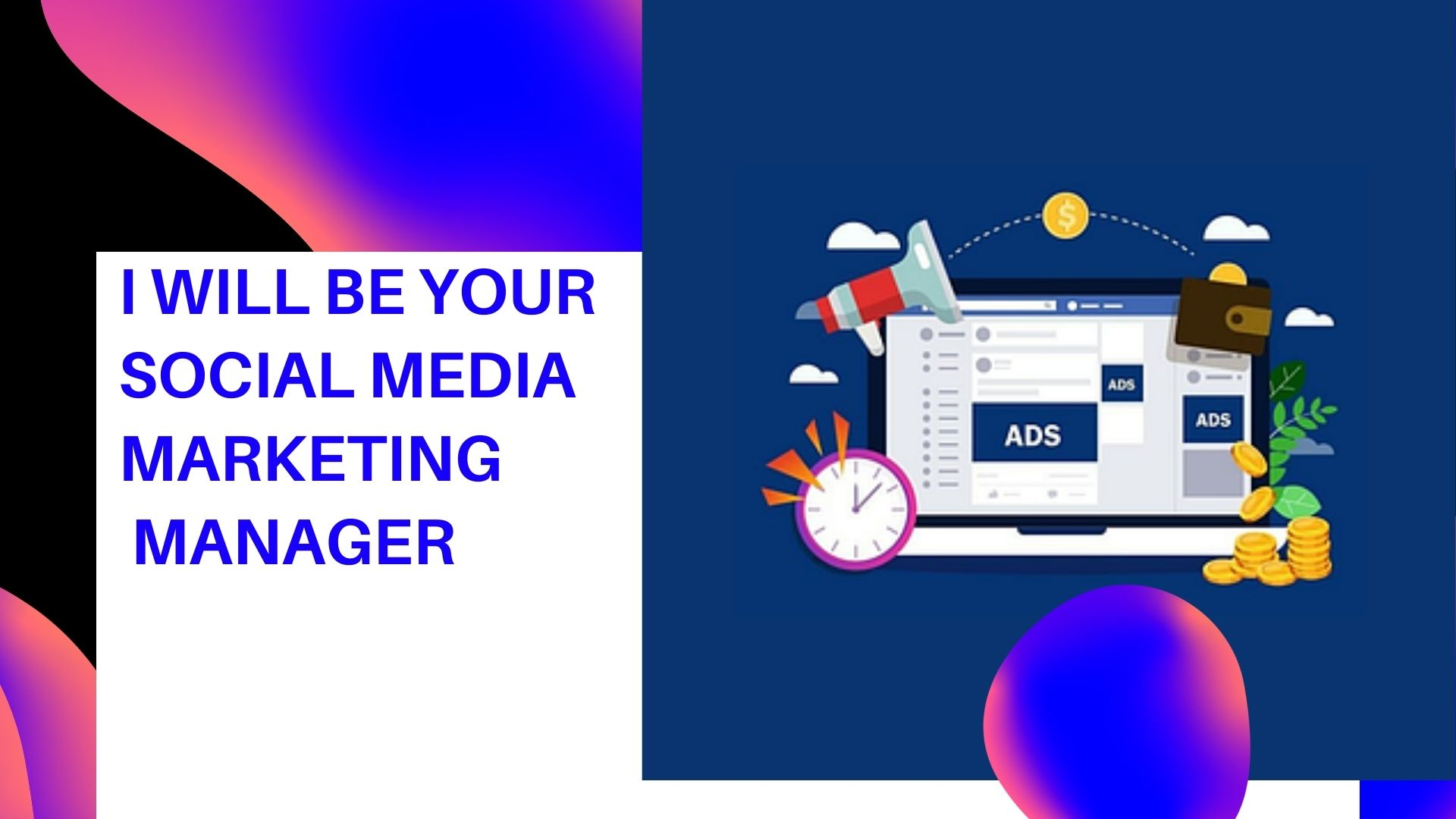 I will be Your Social Media Marketing Manager by online