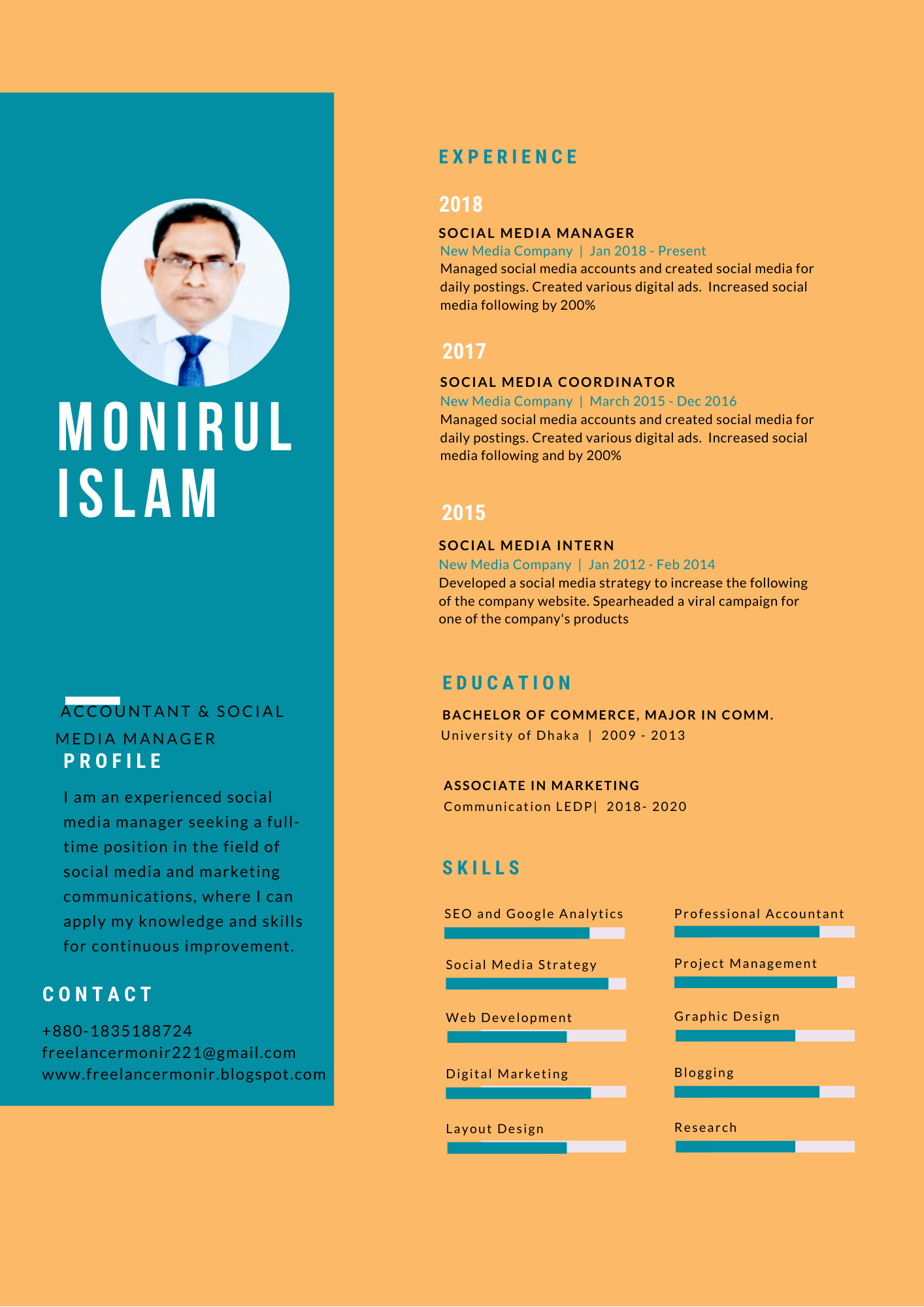 I will create and design a professional CV,  Resume for you
