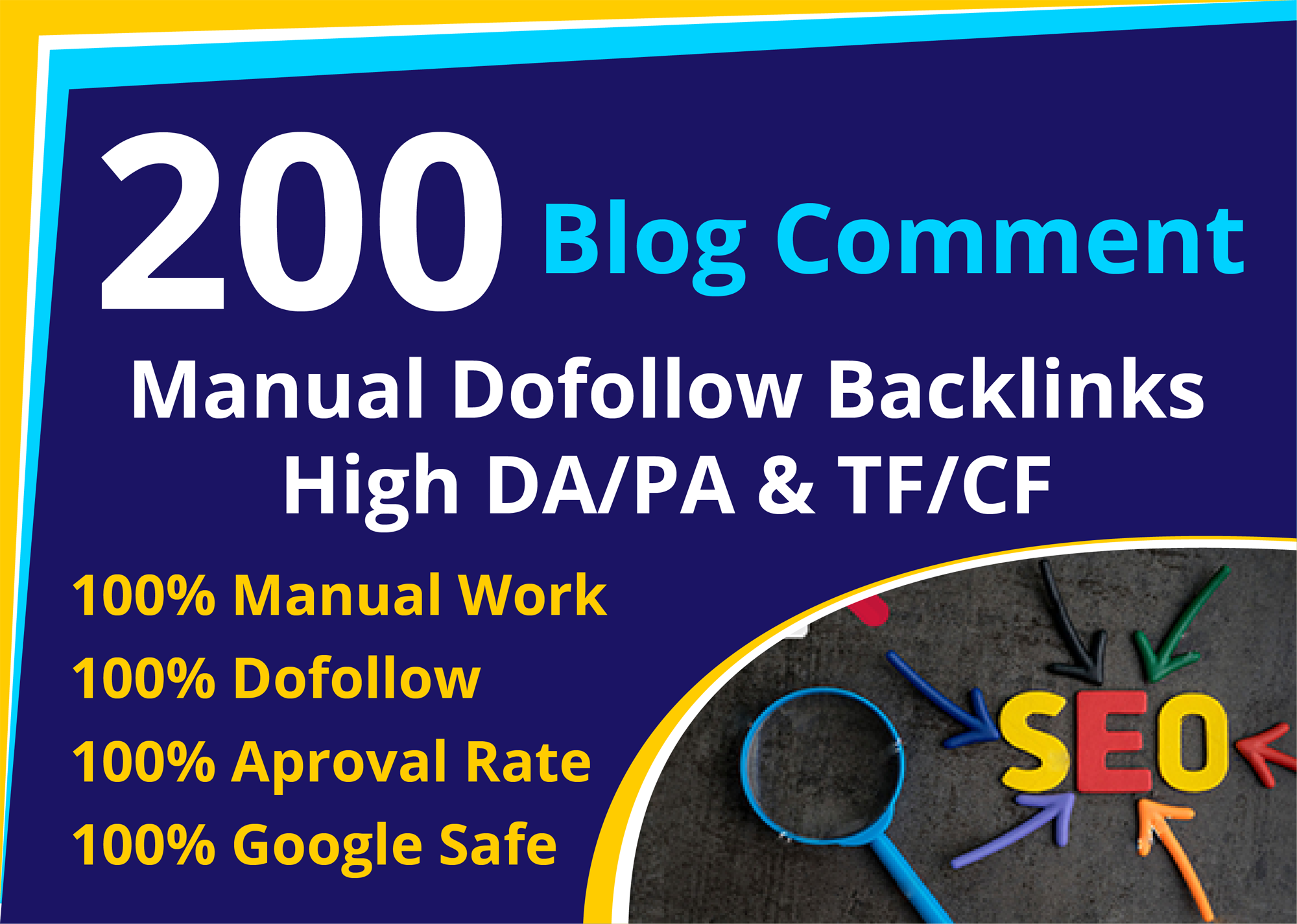 create 200 manually high da blog commenting