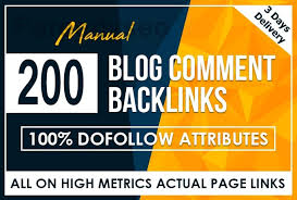 I will do manually 200+ high authority permanent blog comment links for you