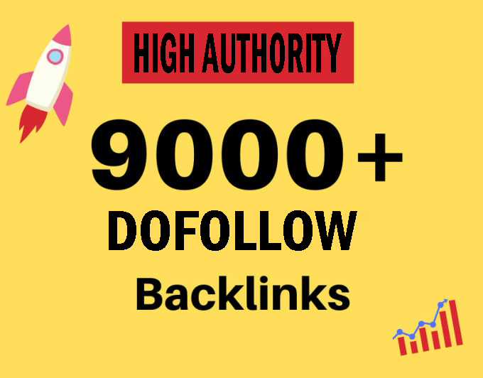 I will build 9000 high authority USA dofollow seo backlinks service for you,  link building
