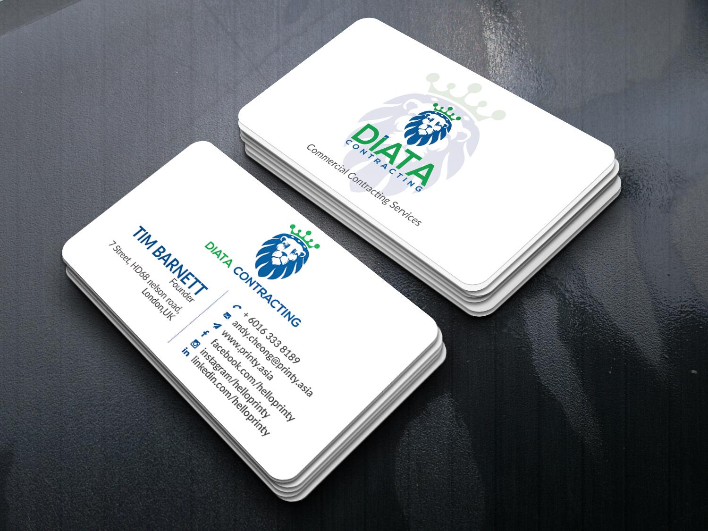 I will unique design business card